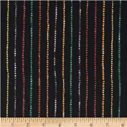Quilting Treasures Autumn Spendor Metallic Stripe Black