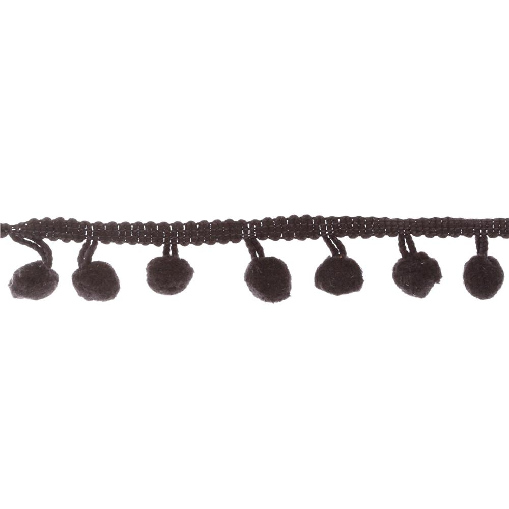 Riley Blake 1/2&#39;&#39; Regular Pom Pom Trim Black