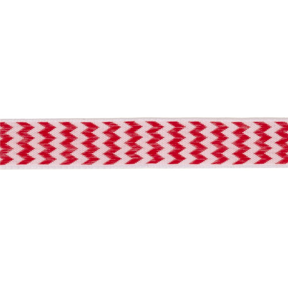 "5/8"" Chevron Stripe Wired Ribbon Red"