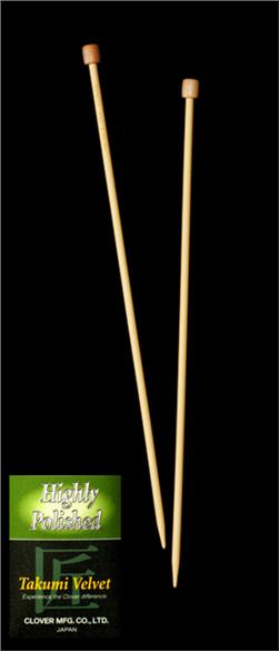 Clover Takumi Velvet Knitting Needles Single Pt. 13'' US 3 (3.25mm)