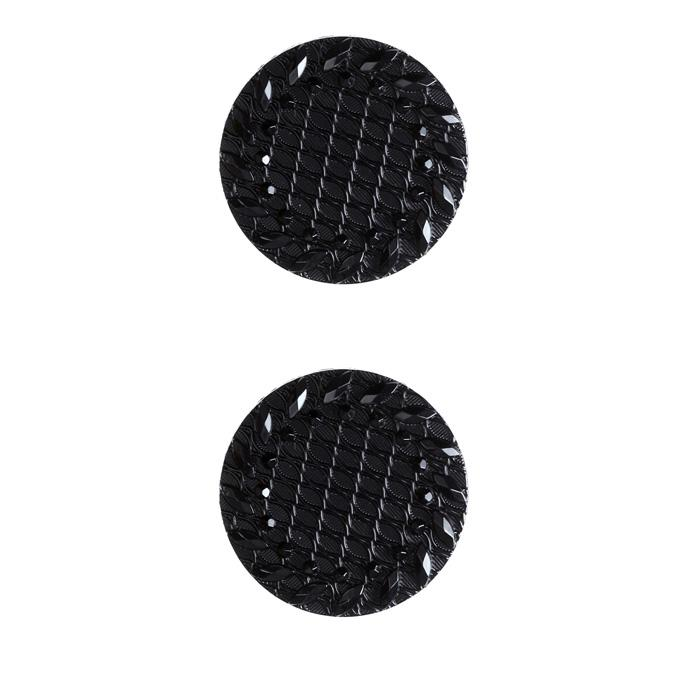 Fashion Button 7/8&#39;&#39; Retro Style Black