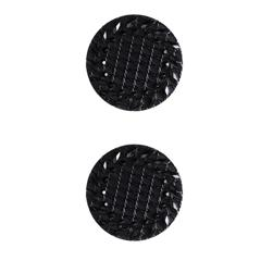 Fashion Button 7/8'' Retro Style Black