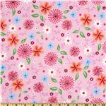 Comfy Flannel Bursting Floral Pink