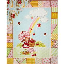 Strawberry Shortcake Classic Double Sided Quilted Panel Rainbow Panel  Pink