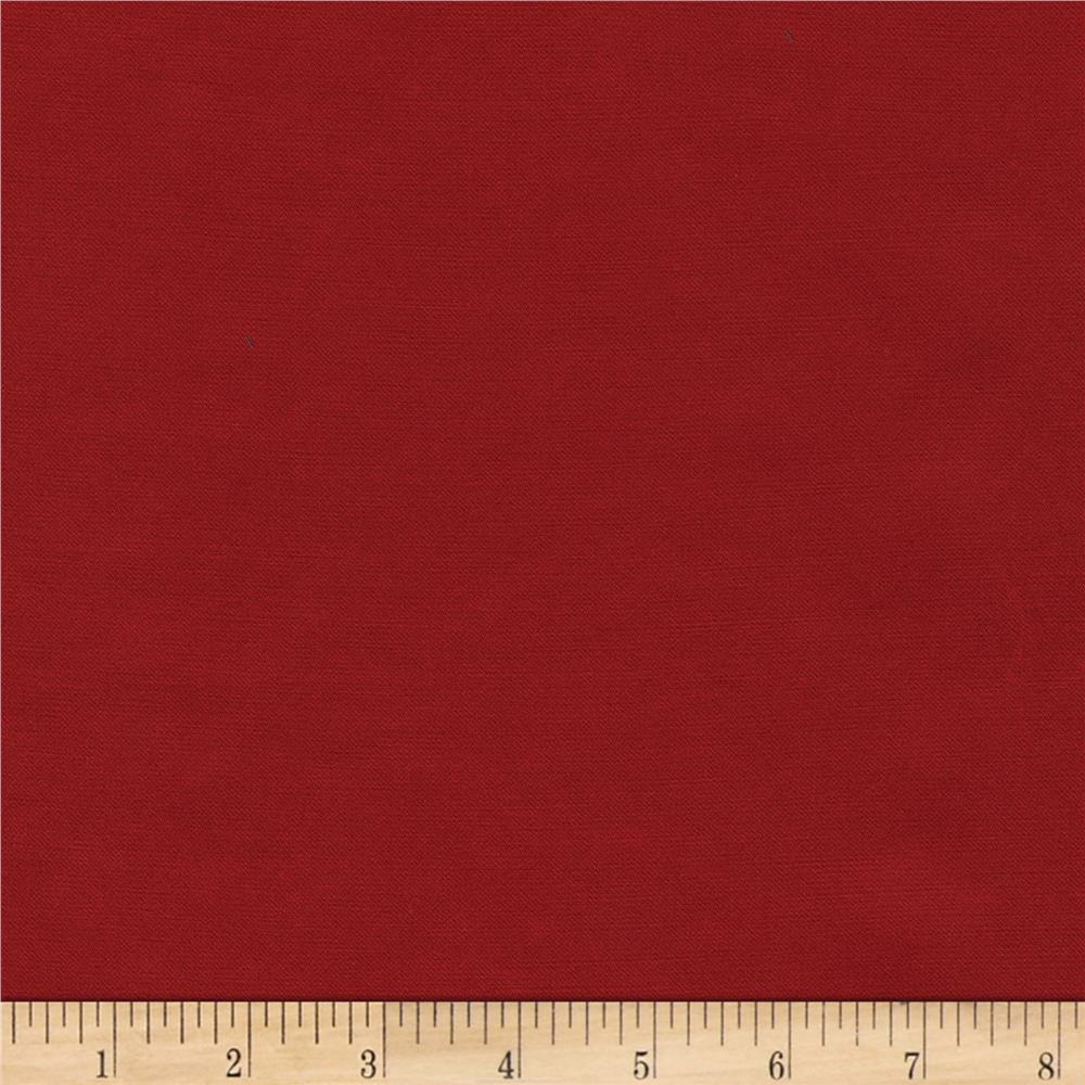 Radiance Cotton/Silk Poplin Crimson
