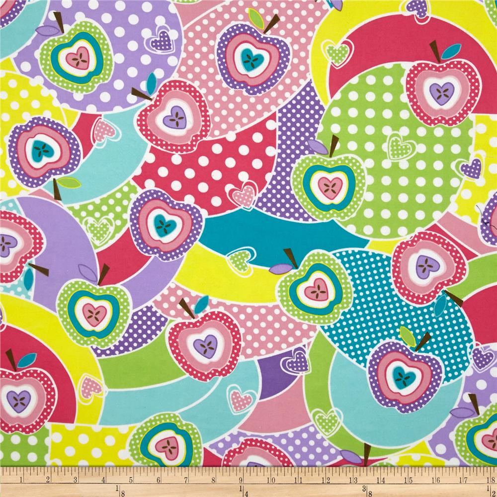 Fabri-Quilt Cuddle Flannel Apples Multi