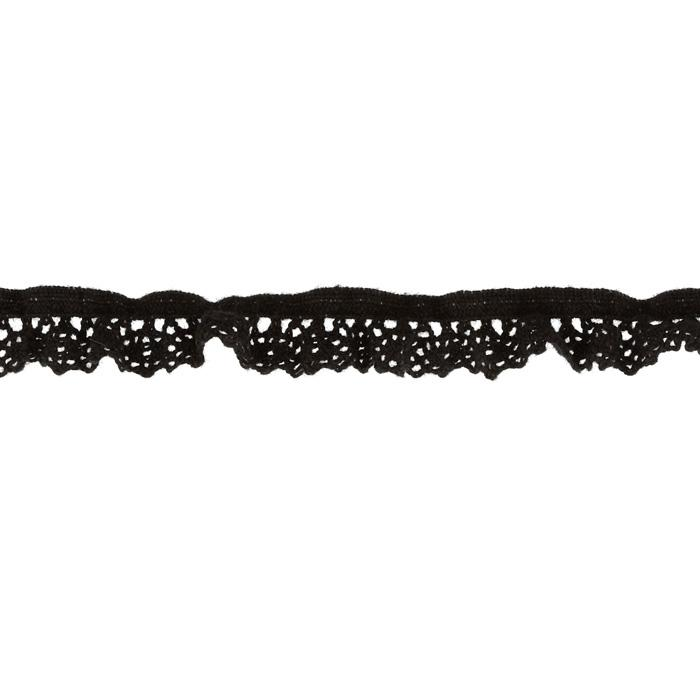 "Riley Blake Sew Together 1/2"" Elastic Crocheted Lace Black"