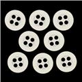 Fashion Button 1/2'' Shirt Buttons (8) White