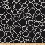 0290591 108&quot;  Wide Spot On Wide Quilt Backing Circles Black