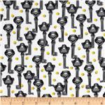 Secret Garden Keys White/Black/Yellow