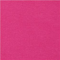 Cotton Rib Knit Hot Pink