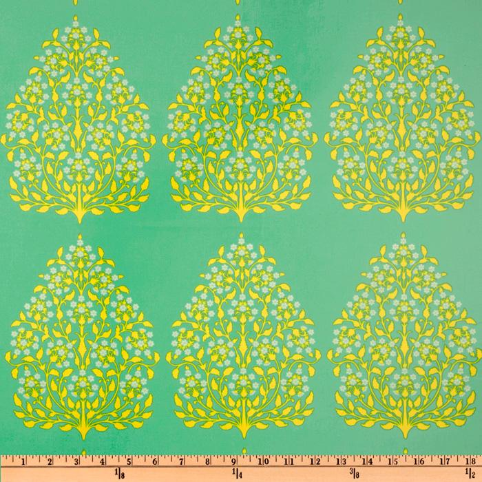 Amy Butler Laminated Cotton Lark Henna Trees Grass