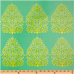 UM-722 Amy Butler Laminated Cotton Lark Henna Trees Grass
