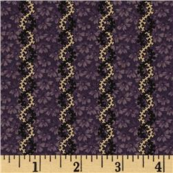Judie's 25th Anniversary Floral Stripe Purple