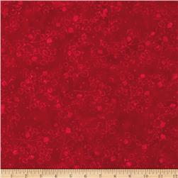 Moda Joy Batiks Winter Fern Tonal Poinsettia Red