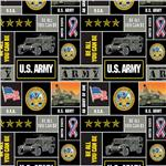 Military Fleece U.S. Army Blocks