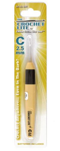Crochet Lite Crochet Hook Size C 2.5mm Yellow Gold