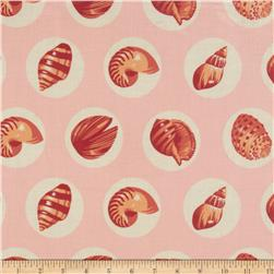 Salt Water Shell Dots Laminated Cotton Coral