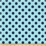 0271796 Riley Blake Small Dots Tone on Tone Navy