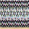 Bloom Stretch Cotton Sateen Watercolor Ikat Pink/Blue
