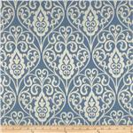 203322 Waverly Williamsburg Bristol Scroll Jacquard Cornflower
