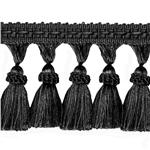 World Wide Malibu Solid Tassel Fringe Black