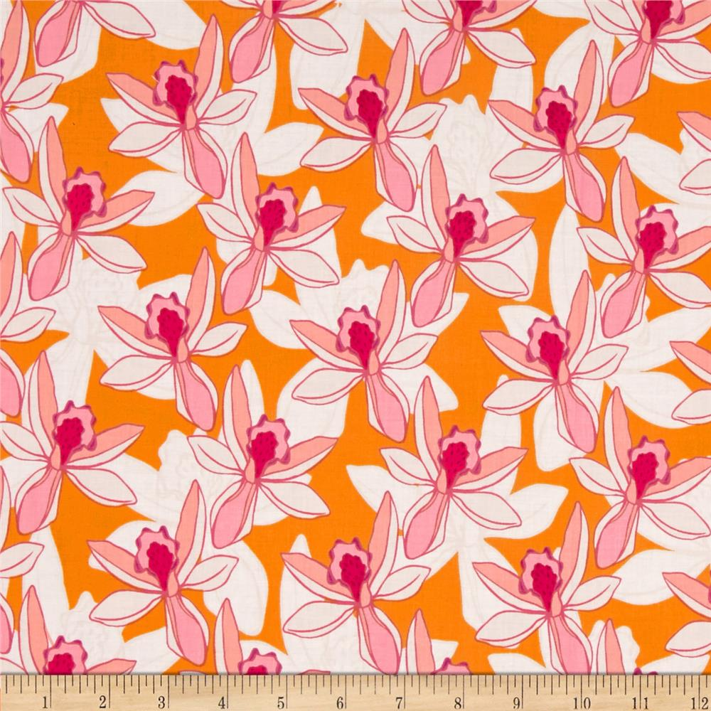 Full Moon Lagoon Floral Orange