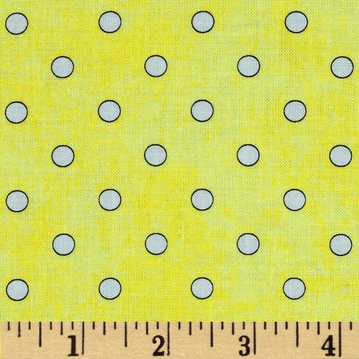 Bee Happy Dots Yellow/White