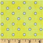 0273442 Bee Happy Dots Yellow/White