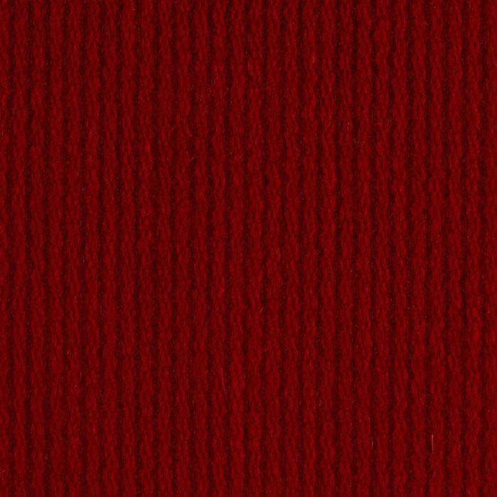 Wool Blend Ribbed Coating Red