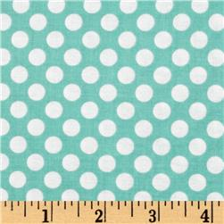 Riley Blake Little Matryoshka Dots Aqua