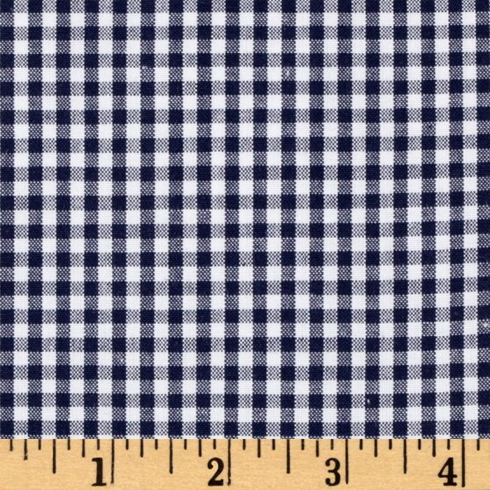 Woven 1/8&#39;&#39; Carolina Gingham Navy