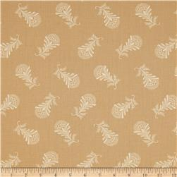 Moda Collection for a Cause Mill Book Paisley Feather Antique Tan