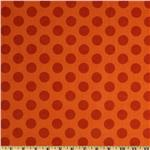 Mischief Flannel Cookie Dots Orange