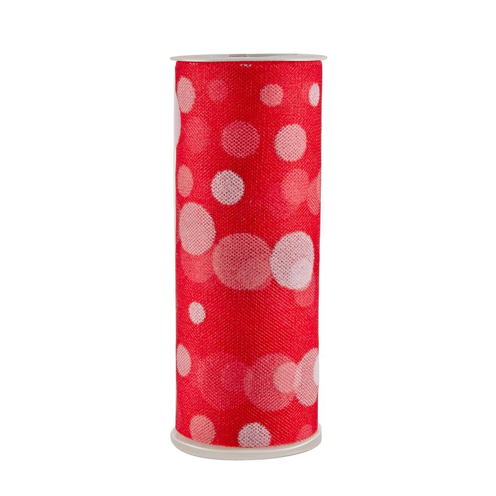 Tulle Spool Polka Dots Red
