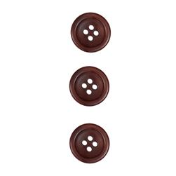 Corozo Button 5/8'' Montreal Light Brown