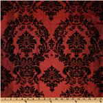 ET-561 Iridescent Flocked Taffeta DamaskBlack/Burgundy