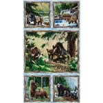 ET-079 Bear Mountain Framed Bears Panel Multi