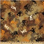 FR-039 Sports  Extreme Tossed Bikers and Skaters Brown