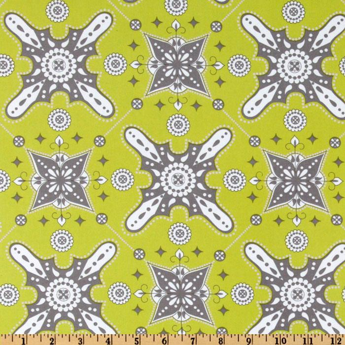 Ty Pennington Impressions Laminated Cotton Morrish Chartreuse