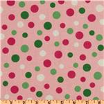 Crazy for Dots & Stripes Tossed Dots Pink/Green