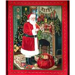 0286710 Visit From Santa Metallic Panel Red/Green