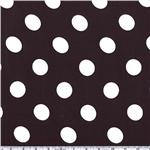 BF-261 Charmeuse Satin Jumbo Dot Black/White