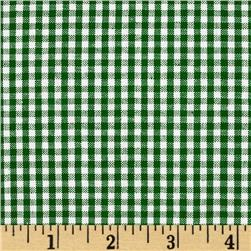 Homespun Yarn Dyed Small Plaid Shirting Green/White