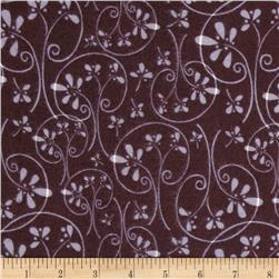 Whoo's Cute Flannel Swirl Tree Brown