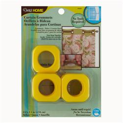 "Curtain Grommets Square 1"" Yellow"