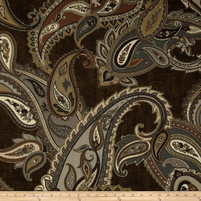 Finesse Ashbury Paisley Chocolate