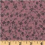 0281430 Voile Shirting Ditzy Floral Orchid