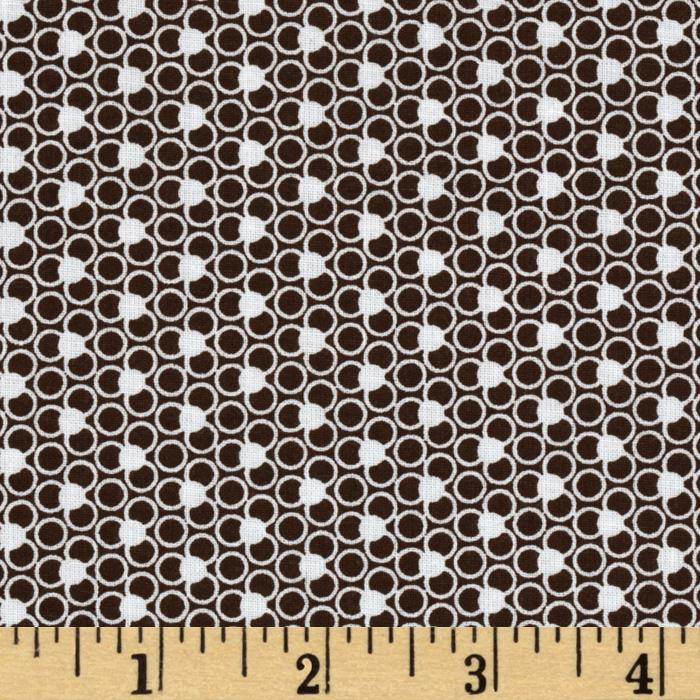 Dots & Circles Brown/White