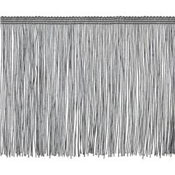 "6"" Chainette Fringe Trim Pewter"